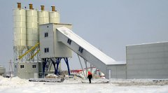 HZS120 Concrete Batching Plant in Russia
