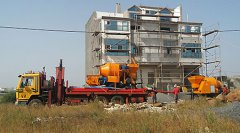 JBT30 concrete mixer with pump in Verde Cape