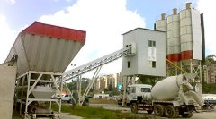 HZS100 Concrete Batching Plant in Venezeula
