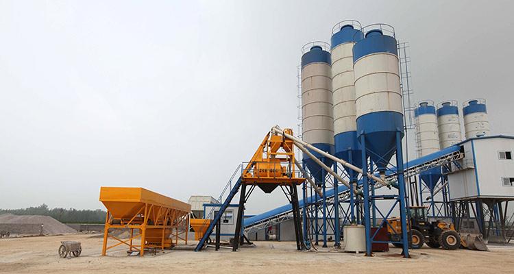 HZS25 Concrete Batching Plant - manufacturing of concrete